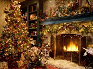 Christmas-Tree-Fireplace