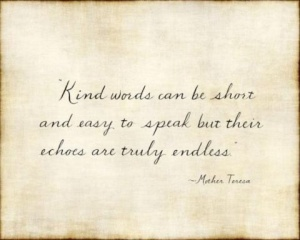 kind words mother teresa