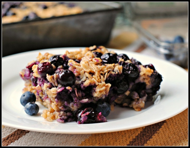 Baked Oatmeal with Cranberries, Blueberries, and Pecans